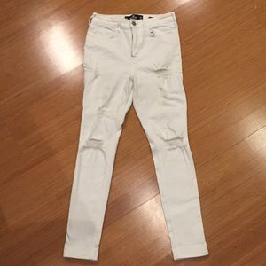 White distressed Hollister Jeans